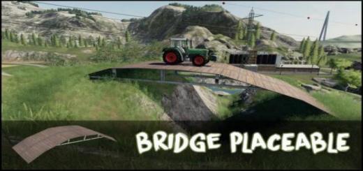 Photo of FS19 – Placeable Bridge