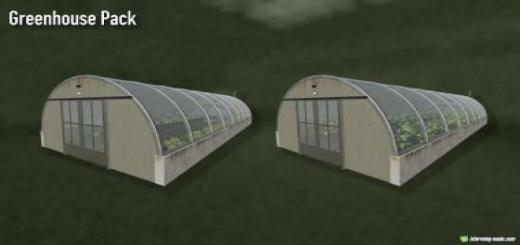 Photo of FS19 – Placeable Greenhouse Pack V1
