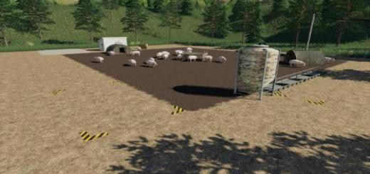 Photo of FS19 – Placeable Open Pig Area V1