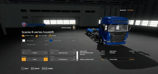 Photo of FS19 – Scania R-Series Hooklift V1.2