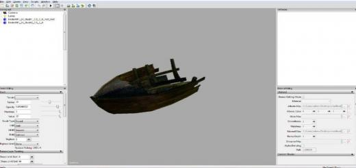Photo of FS19 – Small Boat Wreckage Prefab V1
