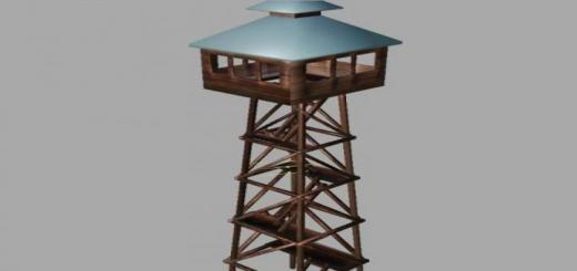 Photo of FS19 – Watch Tower Prefab V1