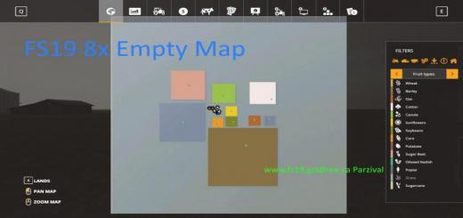 Photo of FS19 – 8X Empty Map V1.0.1