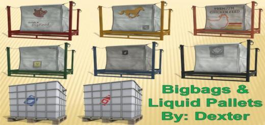 Photo of FS19 – Bigbags & Liquid Pallets V1.2