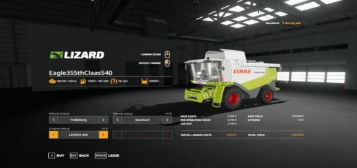 Photo of FS19 – Claas 540 Pack V1