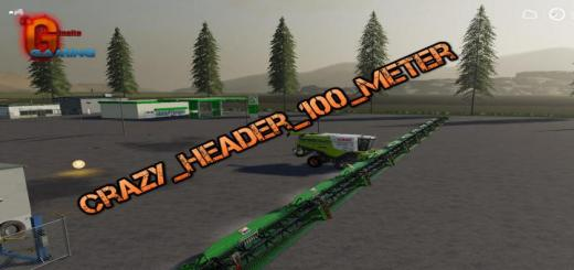 Photo of FS19 – Crazy Header 100 Meter V1