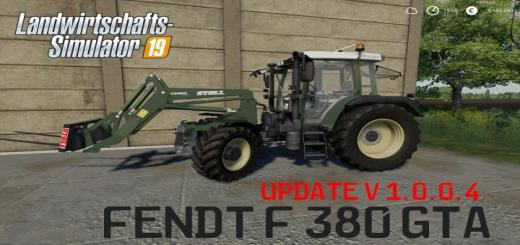 Photo of FS19 – Fendt F 380Gta V1.0.0.4