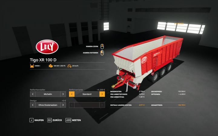FS19 - Fendt/lely Tigo Xr 100 V1