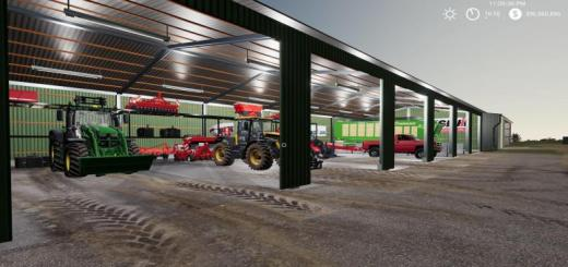Photo of FS19 – Placable Ac 2500S Shed Pack V1.1
