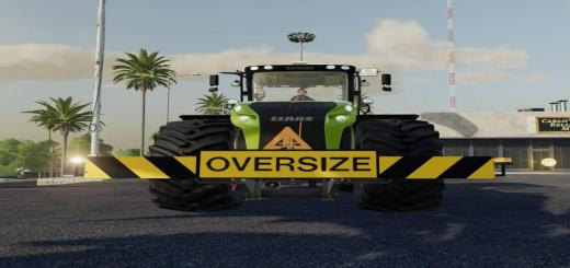 Photo of FS19 – Three Point Oversizedload Sign V1
