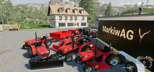 Photo of FS19 – Case Ih 235 Lawn Tractor And Car Hauler Pack V1