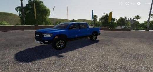 Photo of FS19 – Dodge Ram 1500 Blue Flashing Beacon V1