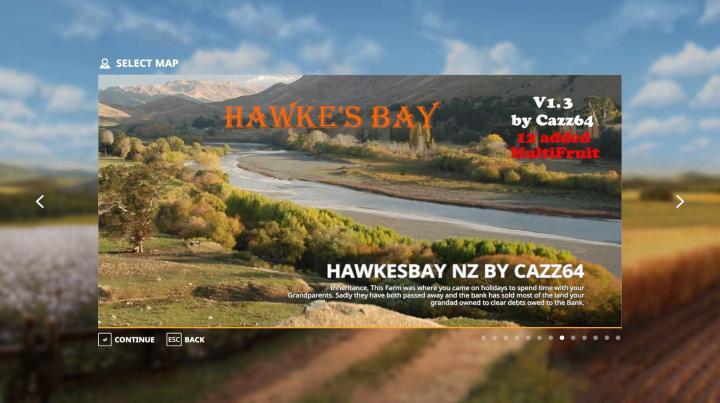 FS19 - Hawkes Bay Nz Map V1.3