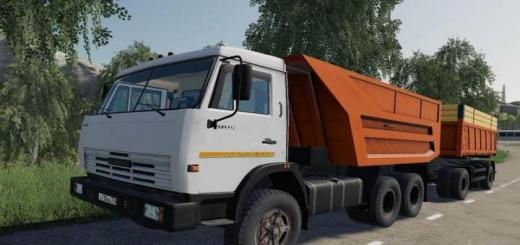 Photo of FS19 – Kamaz 55111 + Trailer V1.2