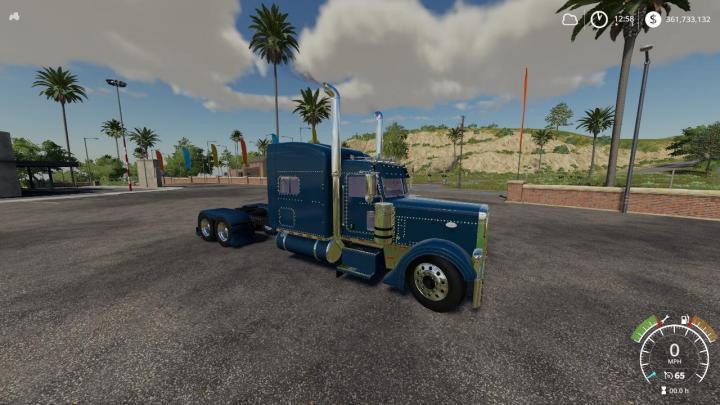 FS19 - Peterbilt 379 Blue Red Green V1