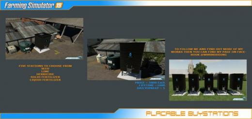 Photo of FS19 – Placable Buystations V1