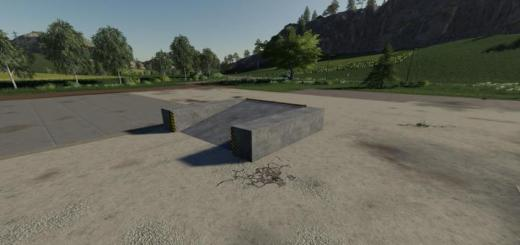 Photo of FS19 – Placeable Concrete Ramp V1