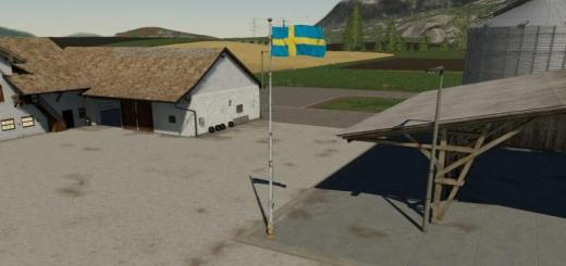 Photo of FS19 – Swedish Flag Prefab (Prefab) V1