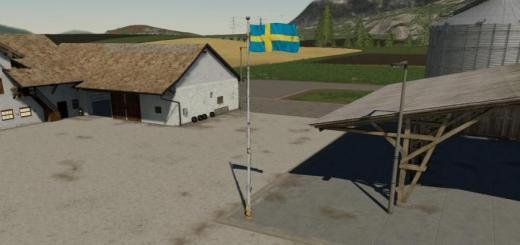 Photo of FS19 – Swedish Flag Prefab (Prefab) V1