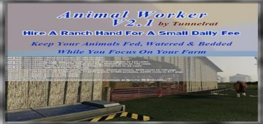 Photo of FS19 – Animal Worker V2.1