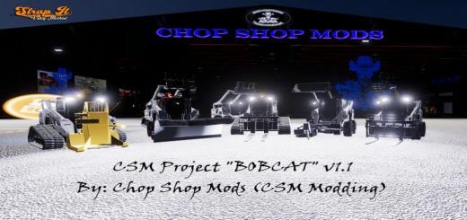 Photo of FS19 – Csm Bobcat 590 Series Skid Steer Pack V1.1