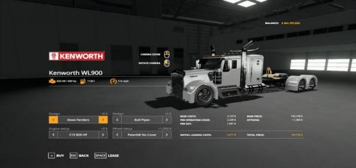 Photo of FS19 – Kenworth Wl900 Grill Beta 1