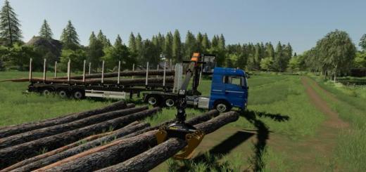 Photo of FS19 – Man Tgx Forest Semitrailer Pack V1