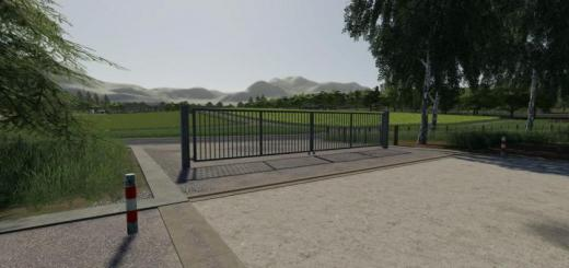 Photo of FS19 – Metal Gates Prefab V1