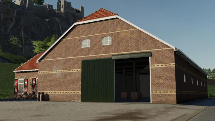 FS19 - Old Styled Farmhouse With Barn V1