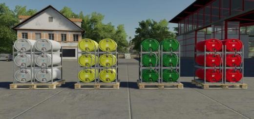 Photo of FS19 – Pallets With Barrels V1