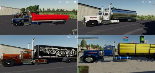 Photo of FS19 – Peterbilt Trucks Pack V1