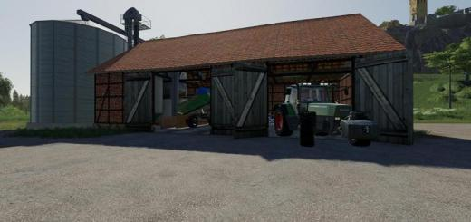 Photo of FS19 – Placeable Barn With Silos V1