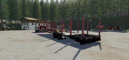 Photo of FS19 – Tj 40Ft Log Trailer V1