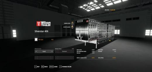 Photo of FS19 – Wilson Trailers Silverstar 406 V1