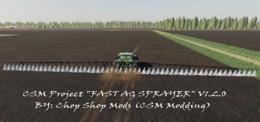 Photo of FS19 – Csm Project Fast Ag Sprayer V1.2