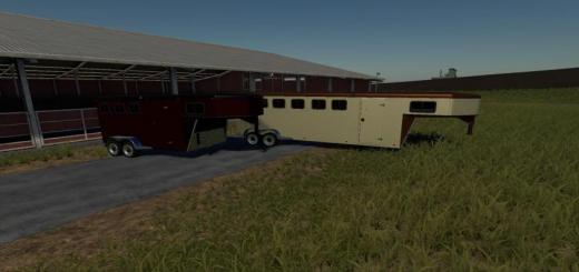 Photo of FS19 – Exp19 3 And 6 Horse Trailers V1