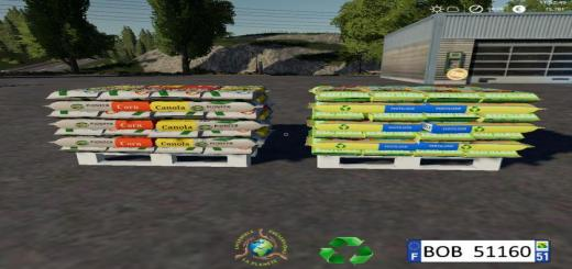 Photo of FS19 – Fertilizer Seeds Pallets By Bob51160 V1