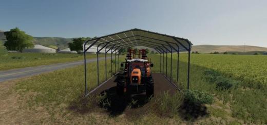 Photo of FS19 – Homemade Vehicle Shelter V1