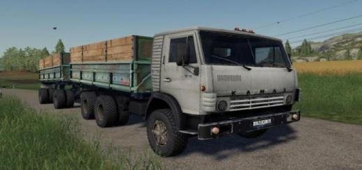 Photo of FS19 – Kamaz 5320 With Trailer Gbk-8551 V1