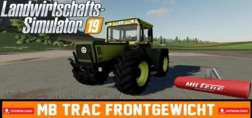 Photo of FS19 – Mercedes-Benz Trac Front Weight V1