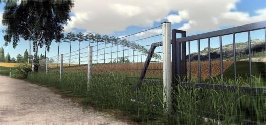 Photo of FS19 – Placeable Mech-Fence V1