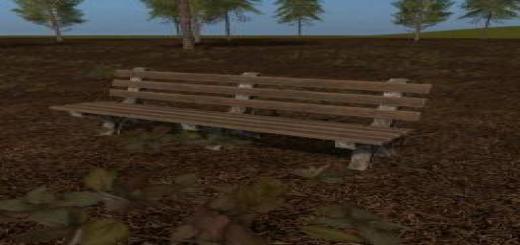 Photo of FS19 – Placeable Park Bench V1