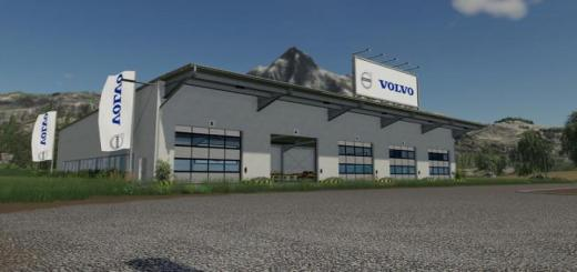 Photo of FS19 – Placeable Volvo Hall V1
