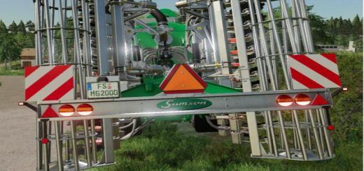 Photo of FS19 – Samson Slurrytools With German Licenseplates V1