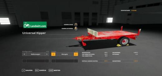 Photo of FS19 – Trailer Pack Universal 1 Achs Kipper V1