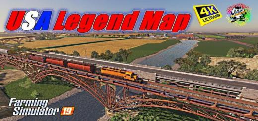 Photo of FS19 – Usa Legend Map V0.3