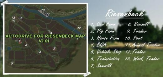 Photo of FS19 – Autodrive For Riesenbeck Map V1.01