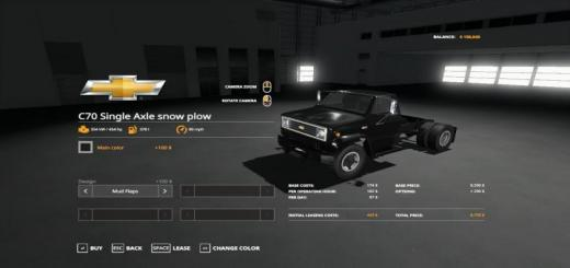 Photo of FS19 – Chevy C70 Snow Plow Truck V1