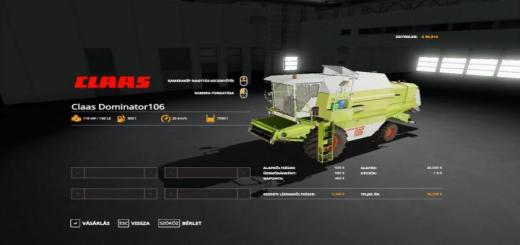 Photo of FS19 – Claas Dominator 106 V1.0.0.3