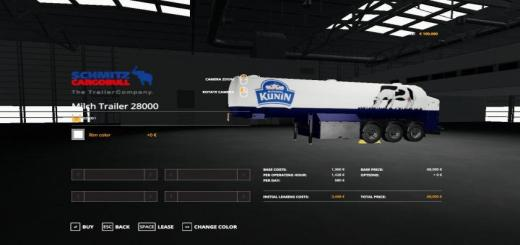 Photo of FS19 – Czech Trailer Milch Cistern V1